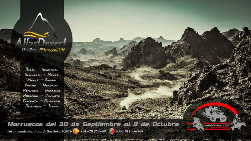 AtlasDesert 2016, Marruecos. Del 30 S al 8 oct.