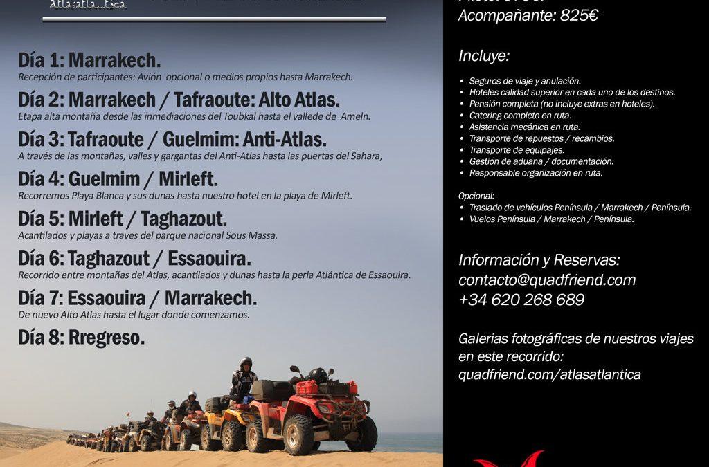 Marrakech 2017. Atlas&Atlántica, Nuevo Trazado.